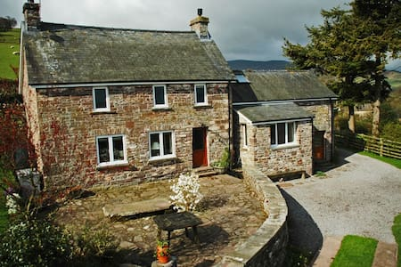 Remote Welsh cottage high in hills - House