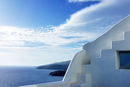 Tinos,house with the most beautiful view of Aegean - Agios Romanos - House