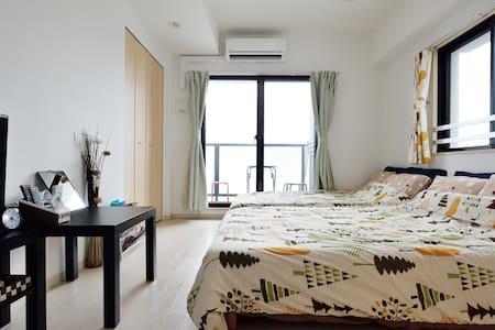 2 wide beds.Namba & Dotonbori area.Top floor 1103. - 大阪市