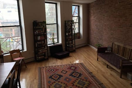 My place usually goes for $320.Sunny(huge windows + great view), spacious (large living room + open kitchen), newly renovated (modern/minimalistic) loft in downtown NYC! There are 3 big windows in the living room, the living room gets lots of light!
