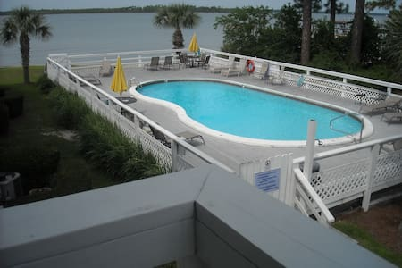 Condo 2Br/2Ba On Wolf Bay w/ pier for boat/fishing - Orange Beach