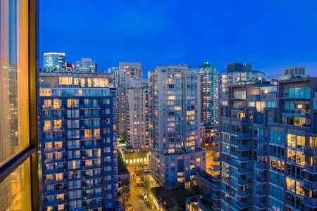 Cozy unit with nice view of city + Parking - Vancouver - Appartement en résidence