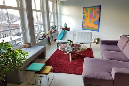 Bright, sunny, canal-side apartment - Amsterdam - Apartemen