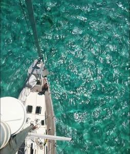 Voilier à l'ancre Singapore Sling - Marie-Galante - Vaixell