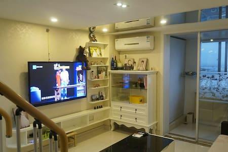 地铁复式精装两室LOFT公寓,整套出租~超温馨哦 - Lägenhet