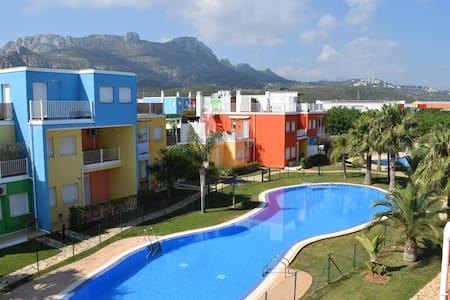 Apartamento de playa en PLANTA BAJA con piscinas - Appartement