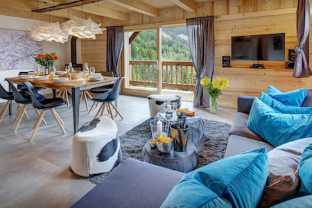 OVO NETWORK - Renovated semi-detached 4 star chalet, sleeps 8, great views - Manigod - Bungalo