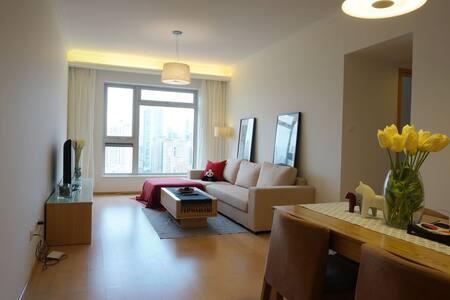 市中心高区两居地铁豪宅-Downtown Luxury 2Br next to METRO - Xangai - Apartamento