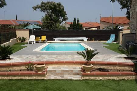 Chambre dans villa catalane avec piscine - Villa