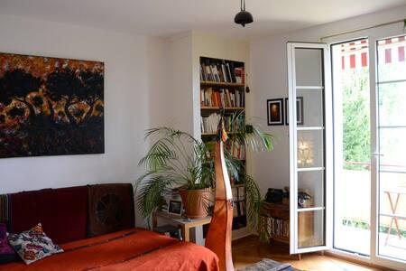Chaleureux appartement vue sur lac Léman - Appartement