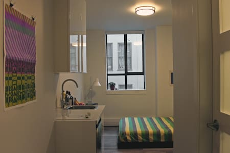 Cozy, newly-renovated modern suite with full bathroom bordering Vancouver's historic Chinatown and Gastown neighbourhoods. Simple yet thoughtfully appointed with immediate access to the city's best arenas, food, entertainment, and outdoor activities.