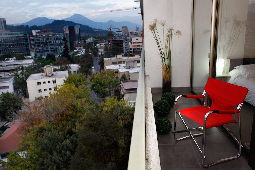 Views from my apartment out to the Andes Mountains.