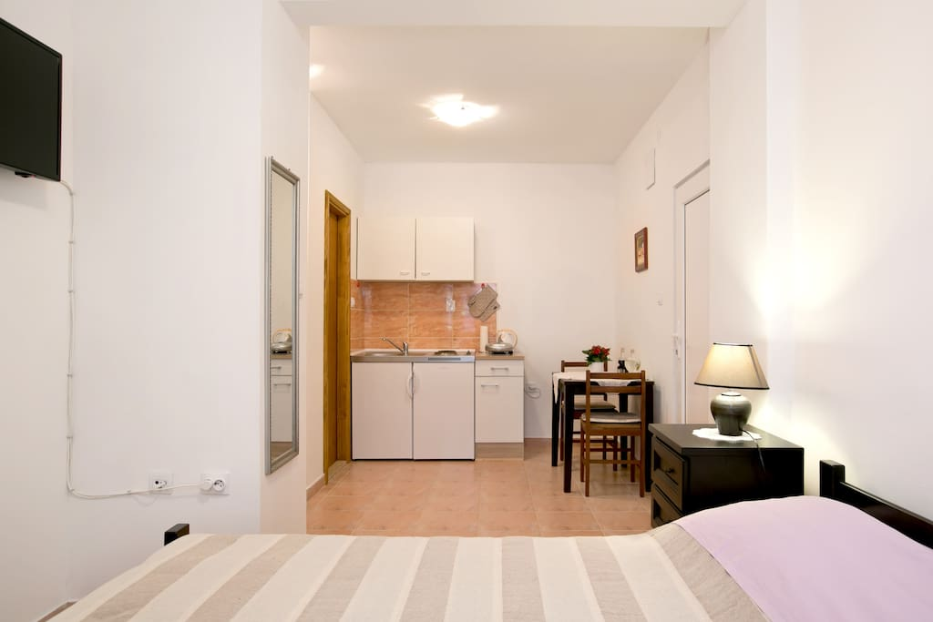 Studio apartment - small but functional.