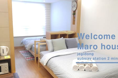 ★Cozy Wide Maro house/Jegi-Dong St. - Appartement