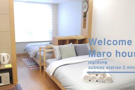 ★Cozy Wide Maro house/Jegi-Dong St. - Appartamento