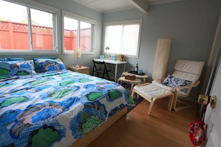 Cosy bedroom with GYM & office - Redwood City - Bed & Breakfast