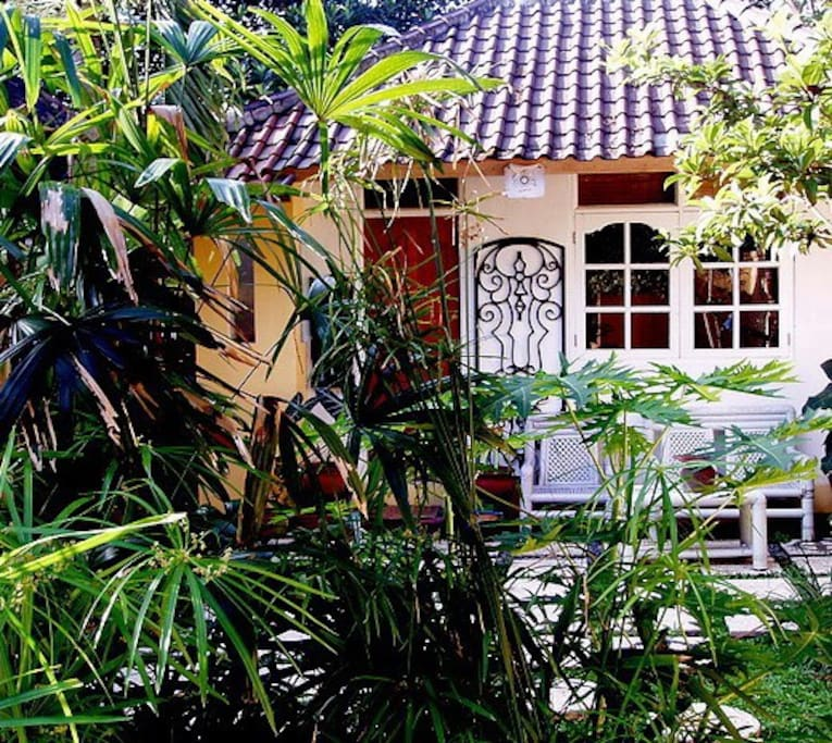 OUR GUEST ROOM IS SET IN A MATURE GARDEN with own private terrace