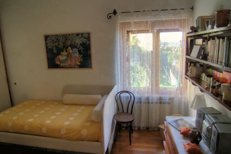 Single-double room in villa on Ligurian sea, Goa. - Pieve Ligure - Haus