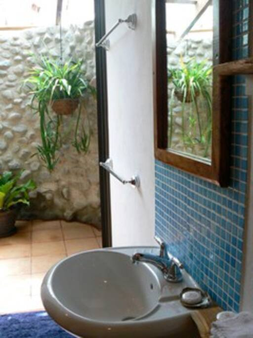 Casa Morfo enclosed outdoor shower