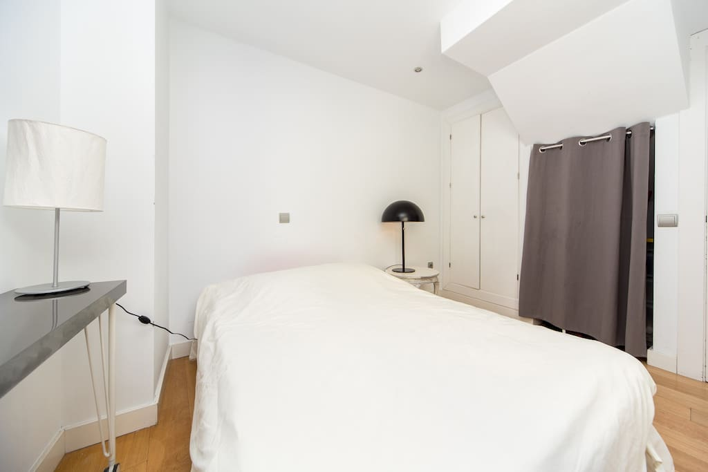 Downstairs bedroom includes 150cm double bed with memory foam mattress.