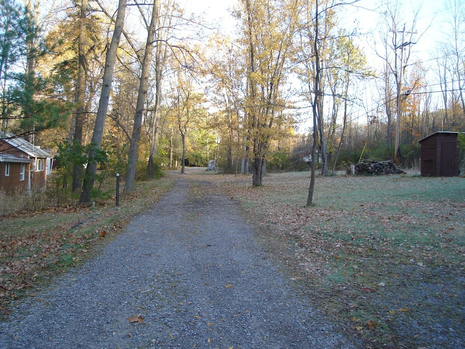 This is the roadway of Log Cabin Pt.