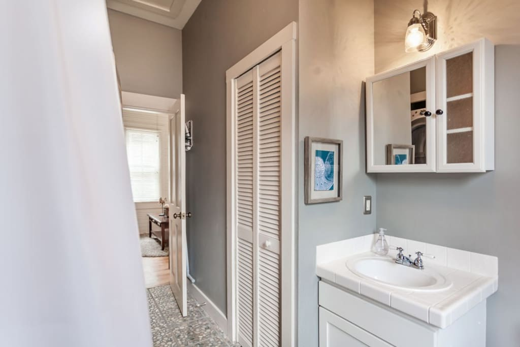 Remodeled Bathroom with Bathtub/Shower combo