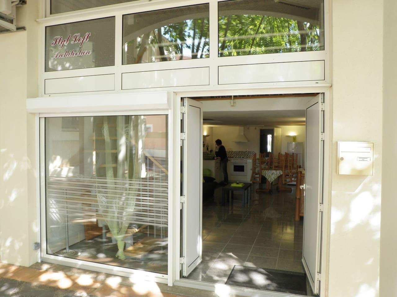 Appartement ouvert vers l'exterieur