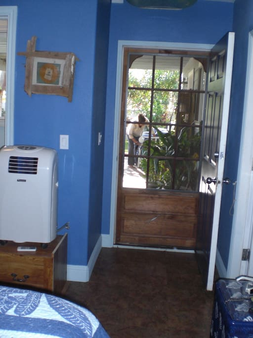 Door opens up to the Lanai
