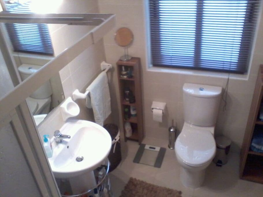 shower bathroom connected with main Bed room