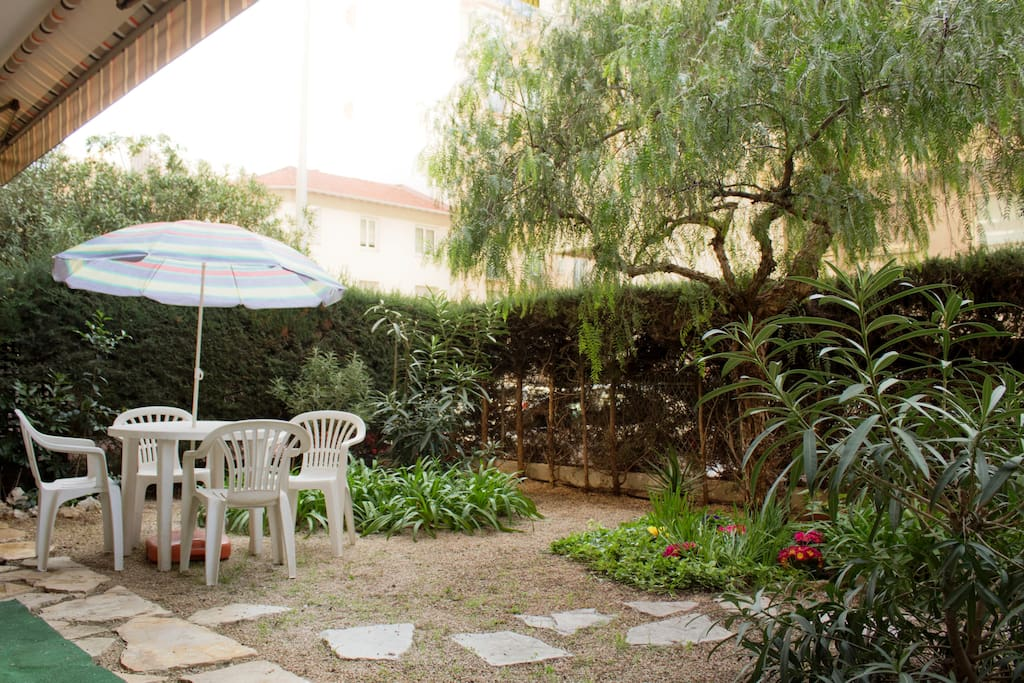 Garden with table