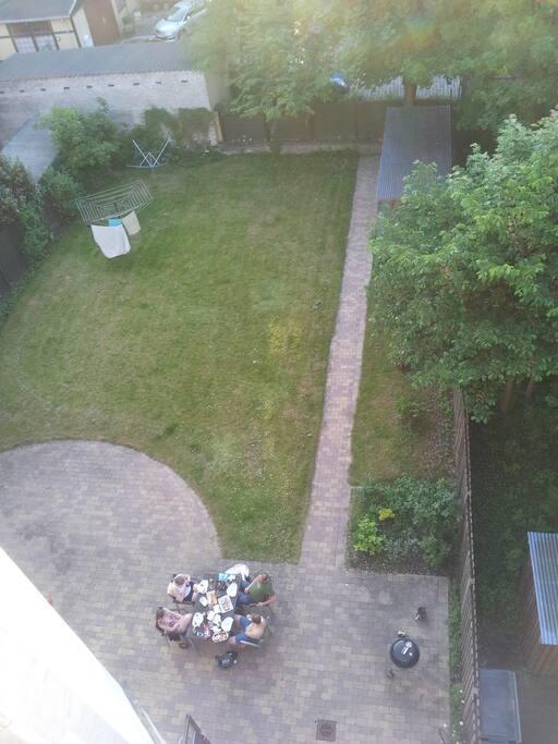 Garden seen from bedroom.
