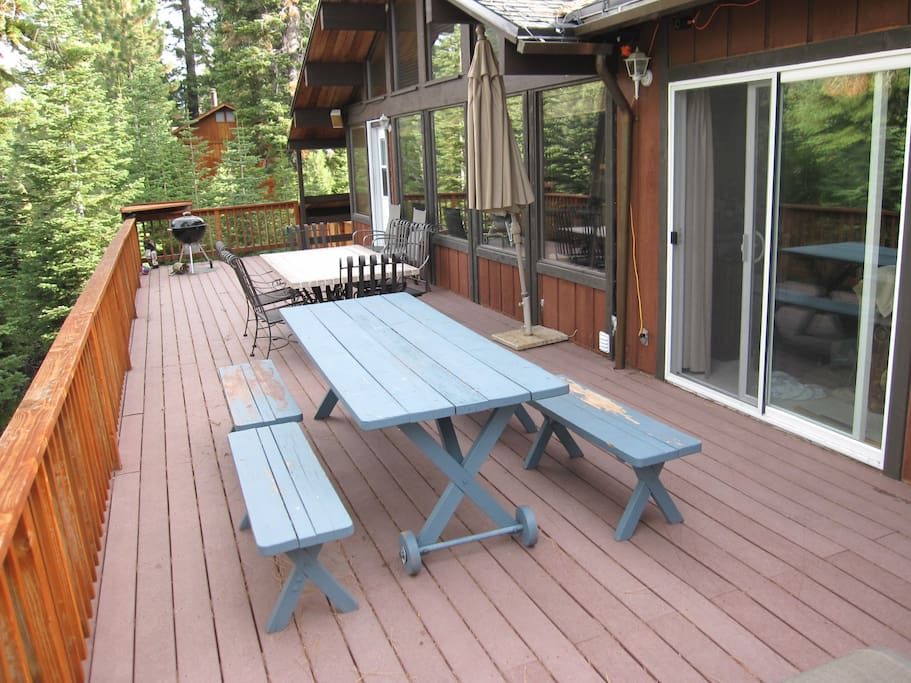 Large Deck for BBQing