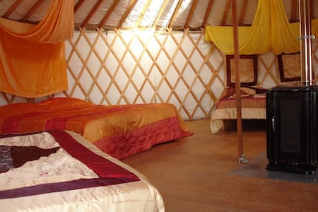 Grande Yourte Charentaise 5 à 8 pers confortable - Yurt