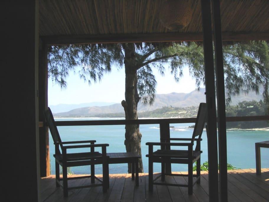 terrasse de bungalow