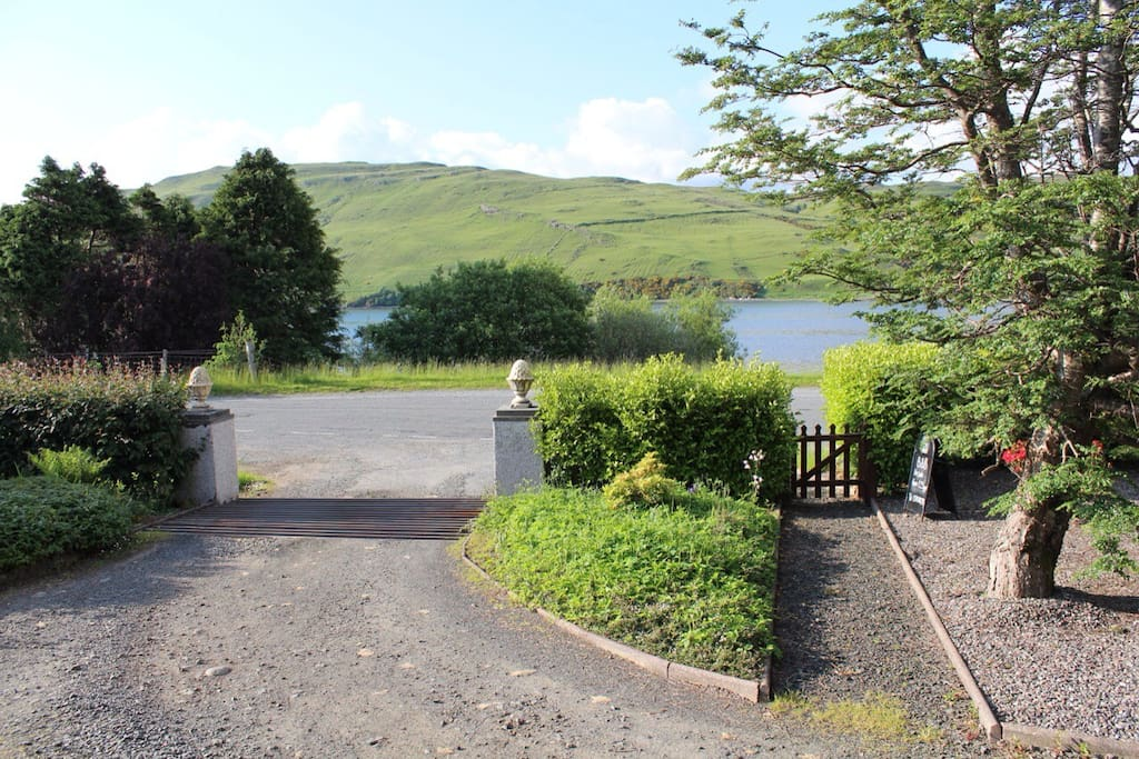 Beautiful loch views to the front....