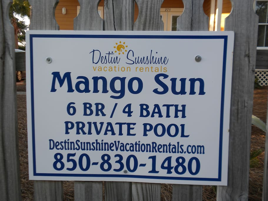 See more pics of Mango Sun by visiting my website listed on this sign :)