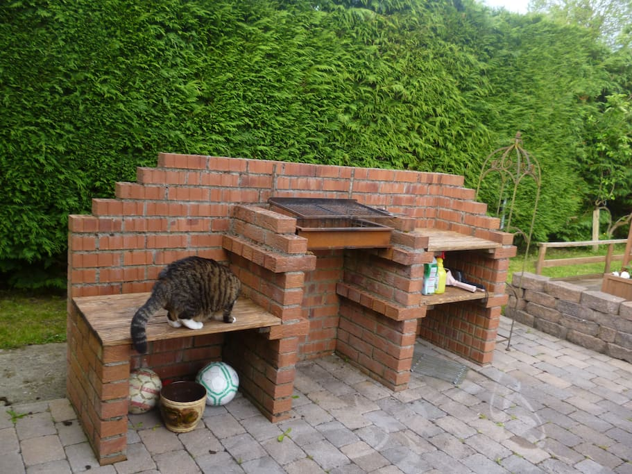 Barbeque area.