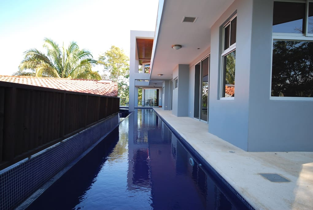 Lap Pool with 5 Bedrooms on the same floor