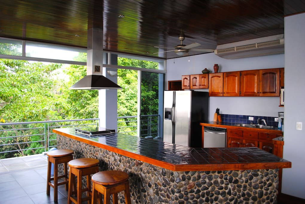 Kitchen on 2nd Floor with ocean beautiful views