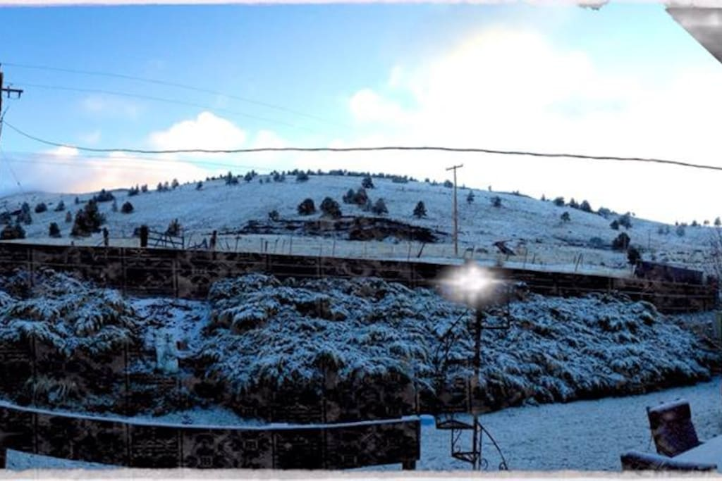 Pano shot I took from deck in my backyard February/2014
