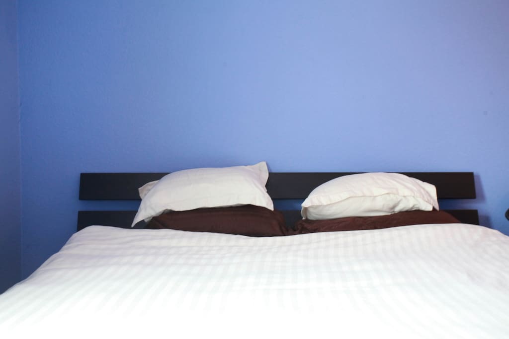 Very comfortable king size bed in separate bedroom