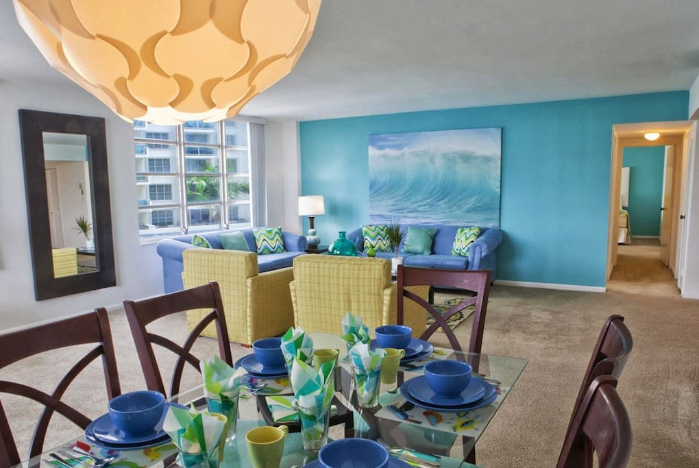the Master suites come with a dinning areas that includes table and chairs