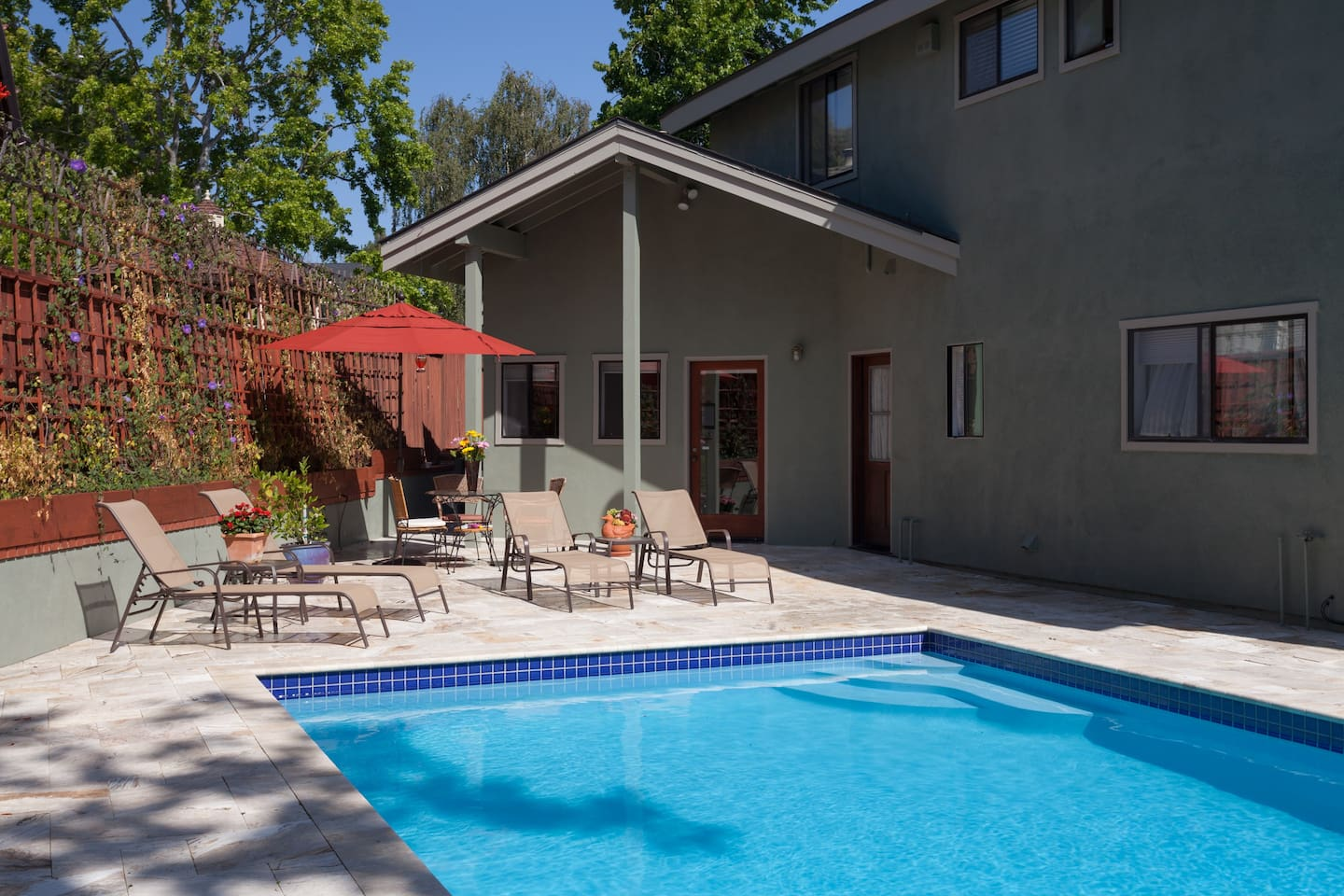 Swim in the warm pool & slide May-September, BBQ & dine on your secluded patio!