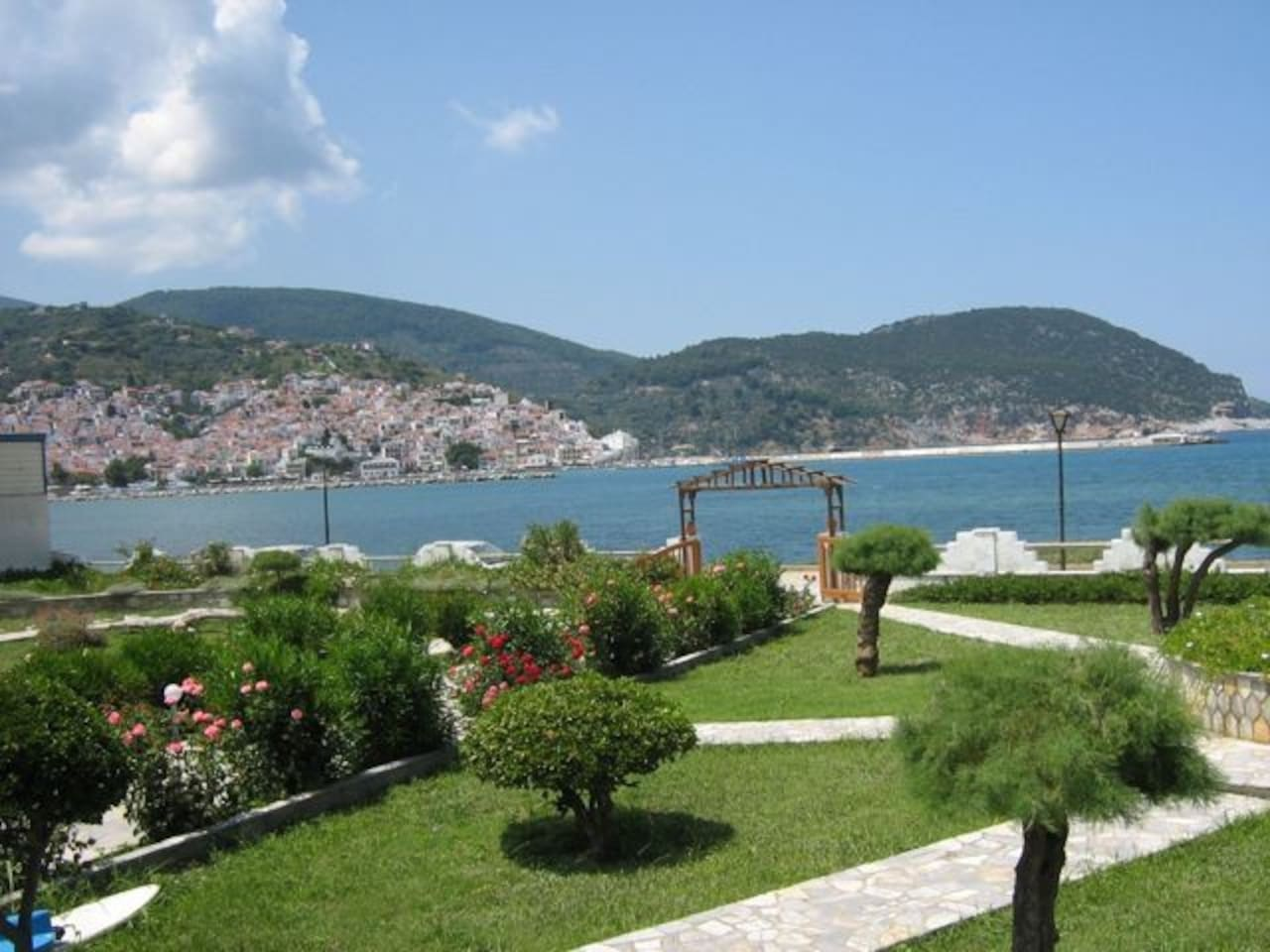 The view to the sea and Skopelos  town