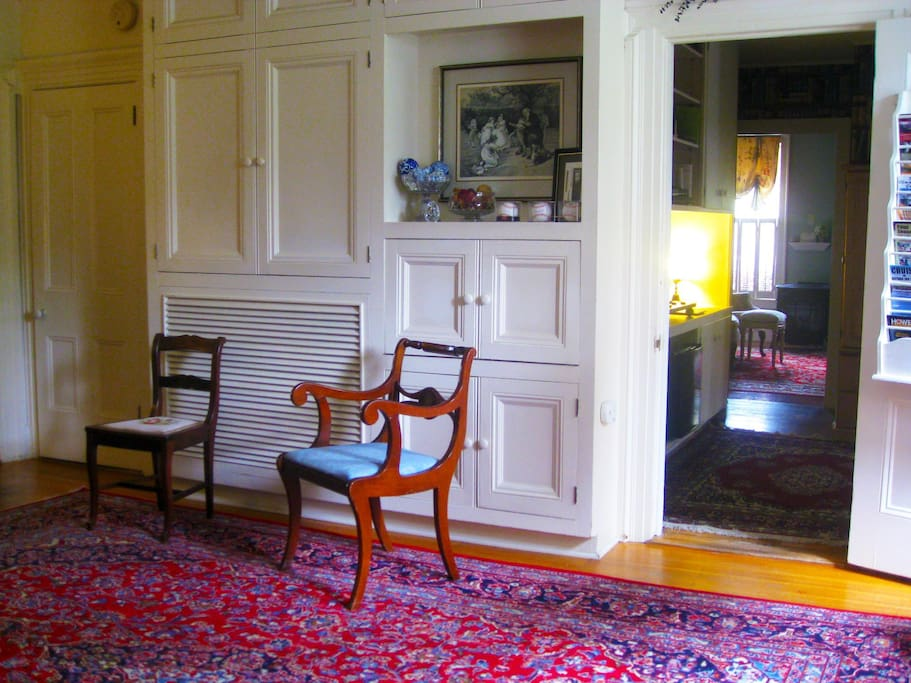 Our Sitting Room.  Have a chat with the other guests or bunker down into some literature.
