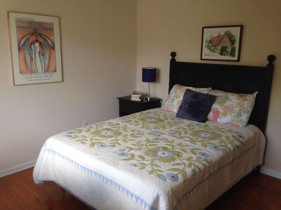 3rd upstairs bedroom with comfy queen size bed