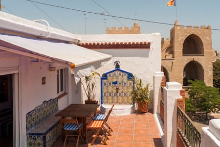 Studio with Terrace  VLC Old Town - Valencia - Apartment
