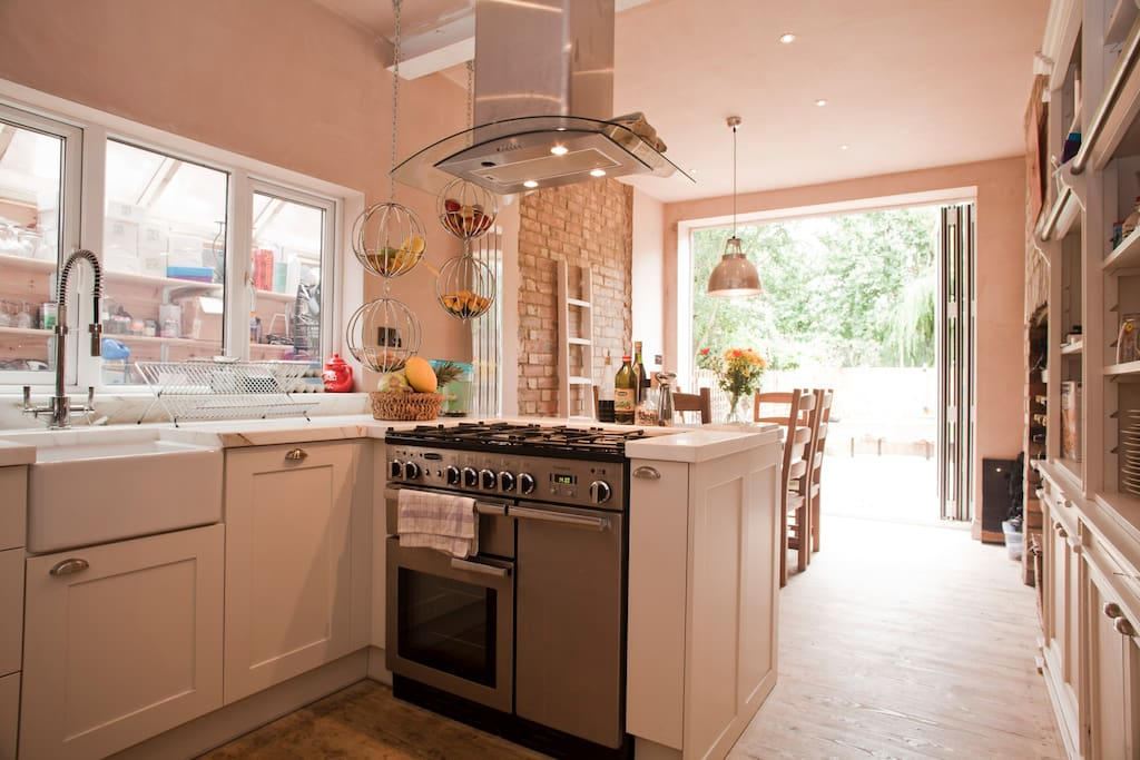 For me the kitchen is the pieces de resistance... I love to cook and entertain...