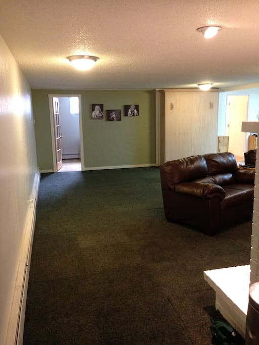 Large basement space with cable TV.