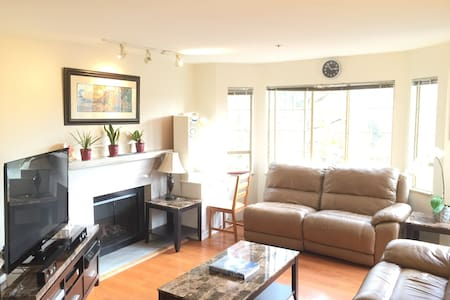 The apartment is located in the popular Commercial Drive area. Great Neighbourhood.  5 mins walk to skytrain5 mins ride to downtown Vancouver Self serve breakfast provide of your choose. We are delighted to make your stay enjoyable.  We have one friendly cat(Lucy) sharing the place Welcome to our home